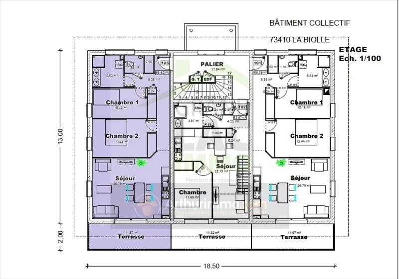 Sale apartment La biolle 243620€ - Picture 1