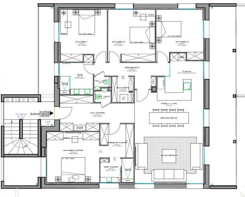 Deluxe sale apartment Caluire et cuire 835000€ - Picture 8
