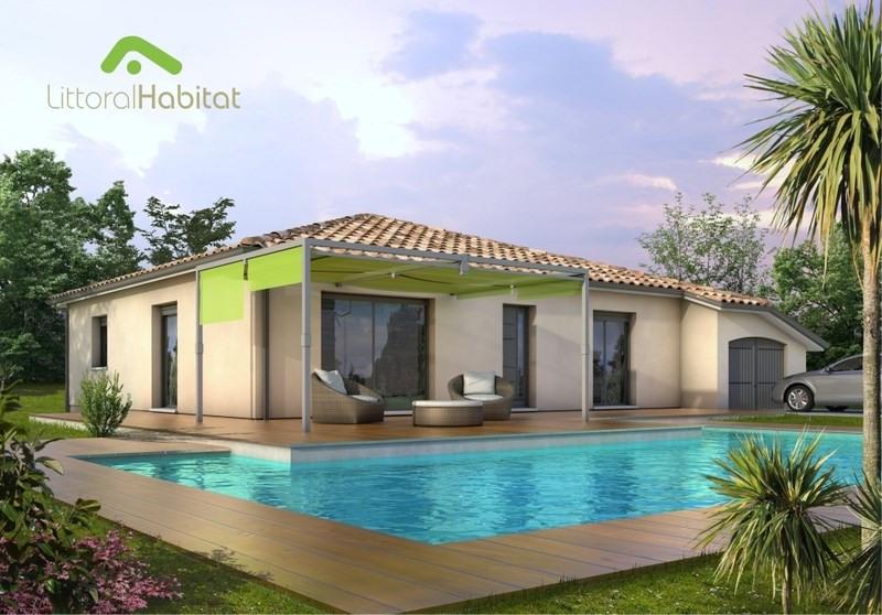 """Modèle de maison  """"Maison traditionnelle à toiture 4 pans"""" à partir de 5 pièces Landes par LITTORAL HABITAT BORDEAUX"""