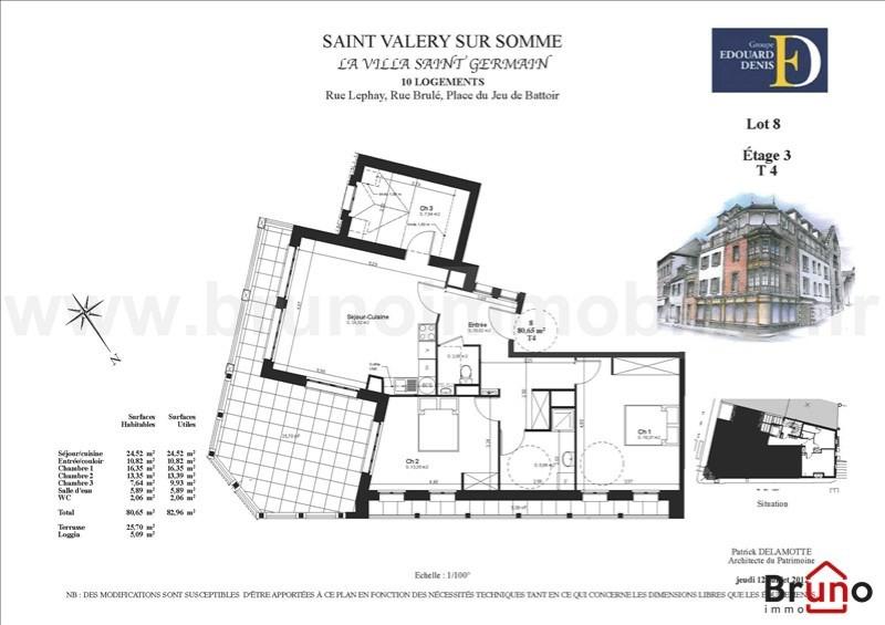 Verkoop van prestige  appartement St valery sur somme 450000€ - Foto 5