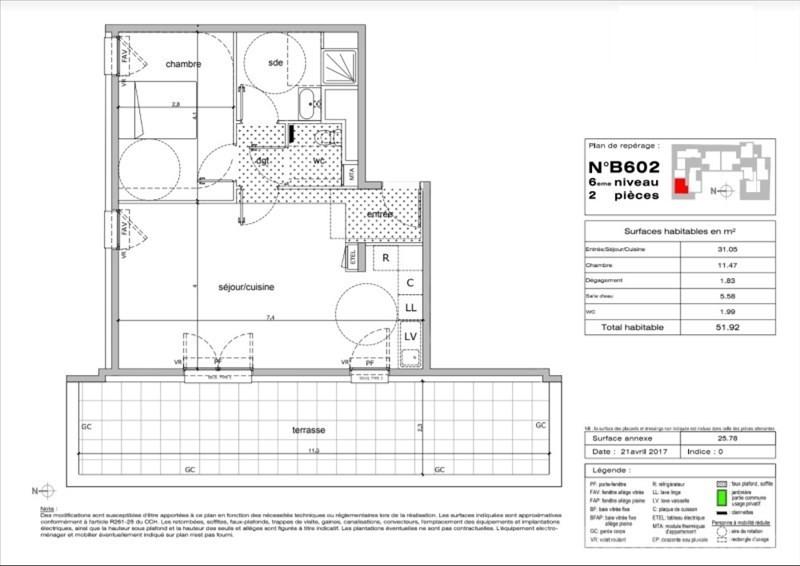 Sale apartment Montpellier 267000€ - Picture 2