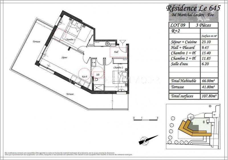 Venta  apartamento Èze 475200€ - Fotografía 3