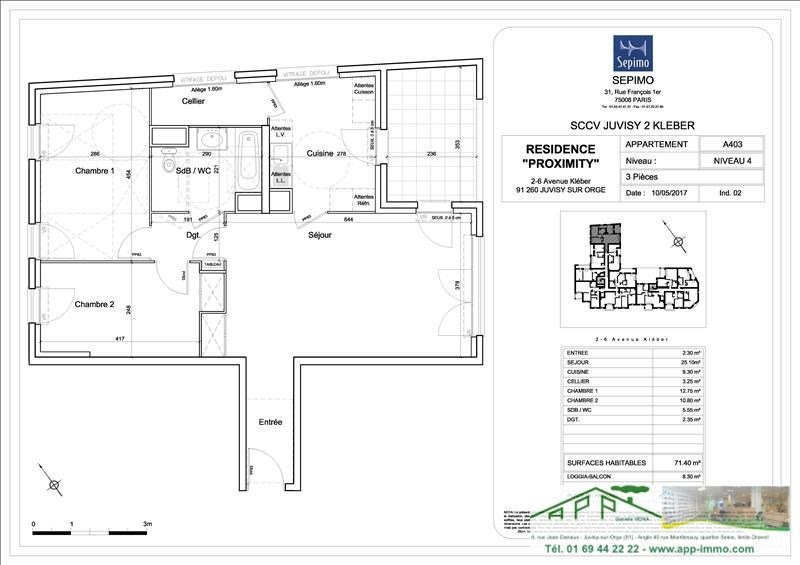 Investment property apartment Juvisy sur orge 296000€ - Picture 4
