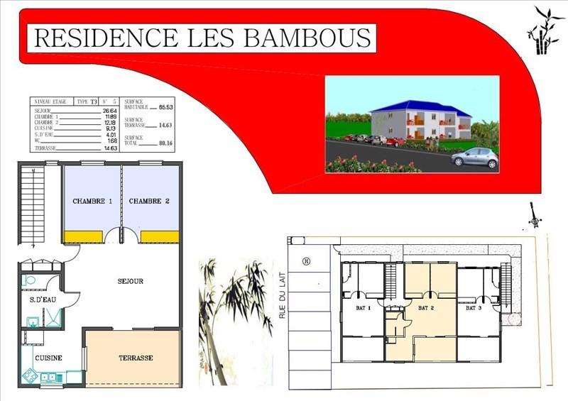 Sale apartment Le moule 161500€ - Picture 1