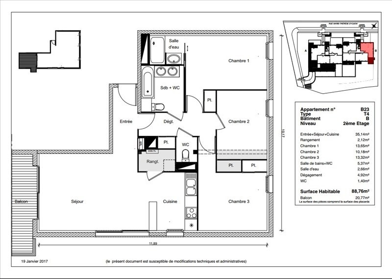 Vente appartement Ramonville saint agne 299900€ - Photo 1