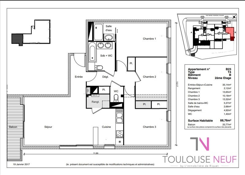 Vente appartement Ramonville saint agne 299 000€ - Photo 2