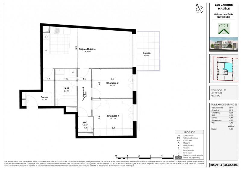 Sale apartment Suresnes 520000€ - Picture 3