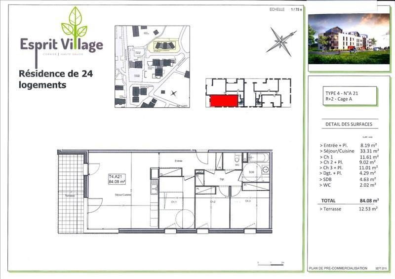 Vente appartement Cornier 299000€ - Photo 2