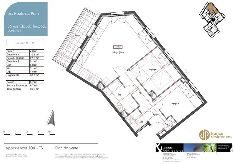 Vente appartement Suresnes 564500€ - Photo 8