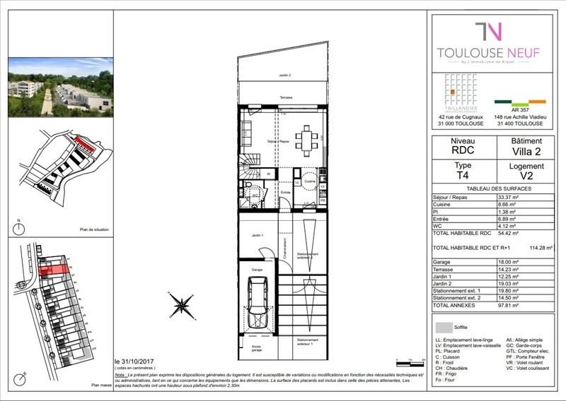 Vente maison / villa Toulouse 335900€ - Photo 3