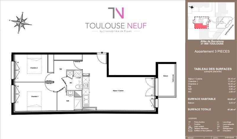 Vente appartement Toulouse 309000€ - Photo 6