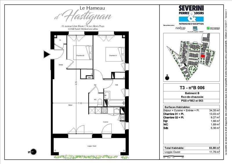 Vente appartement St medard en jalles 284200€ - Photo 4