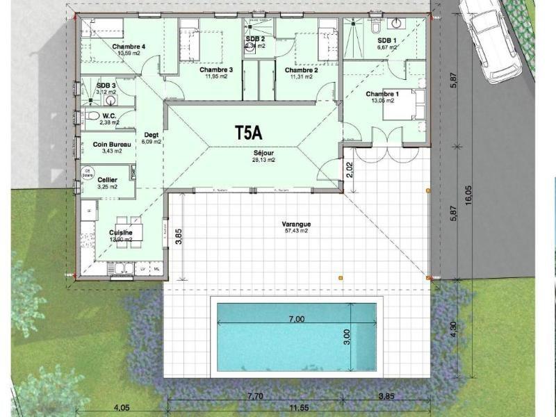 Vente maison / villa Trois ilets 504000€ - Photo 5