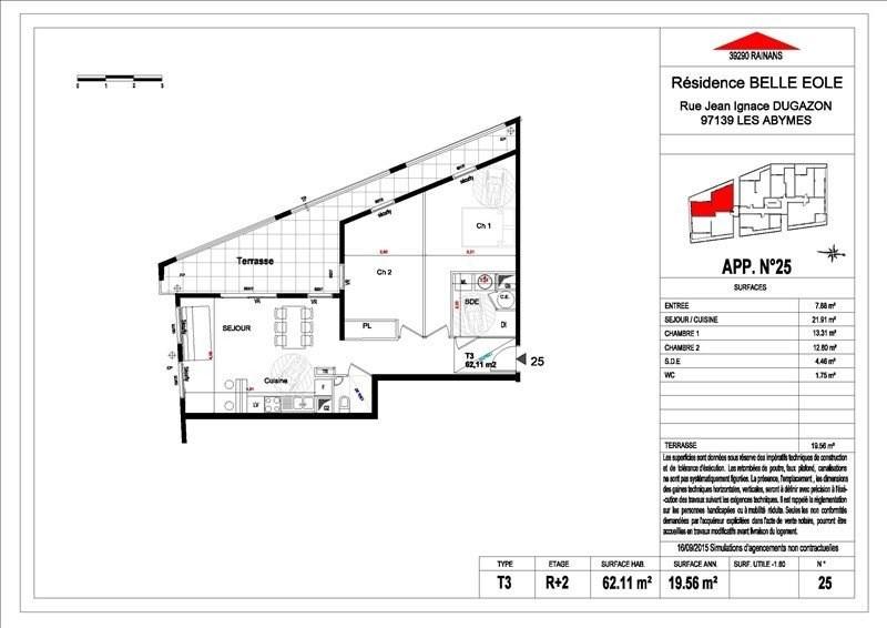 Sale apartment Les abymes 156500€ - Picture 4