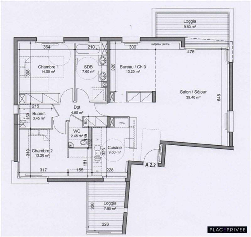 Venta  apartamento Nancy 355000€ - Fotografía 2