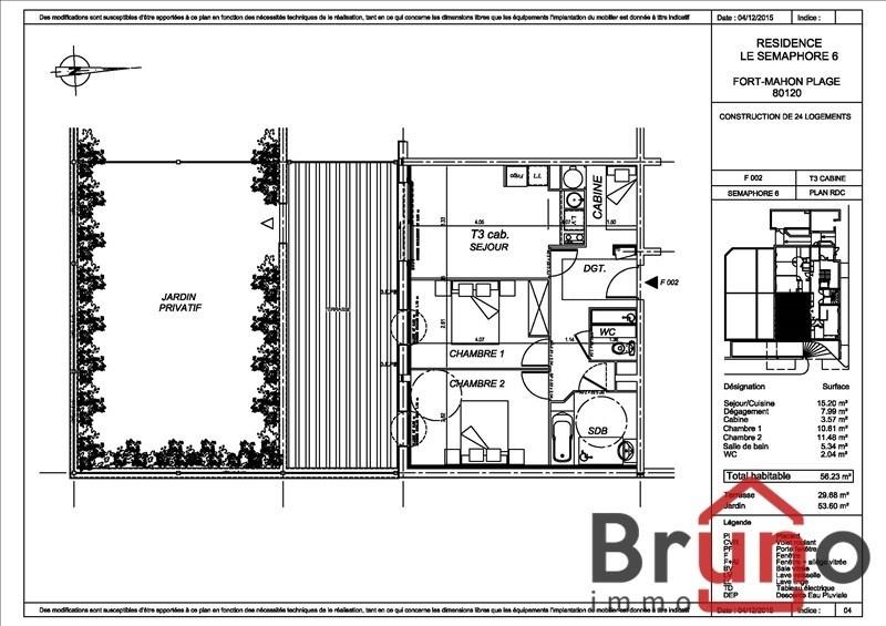 Verkauf wohnung Fort mahon plage 231000€ - Fotografie 1