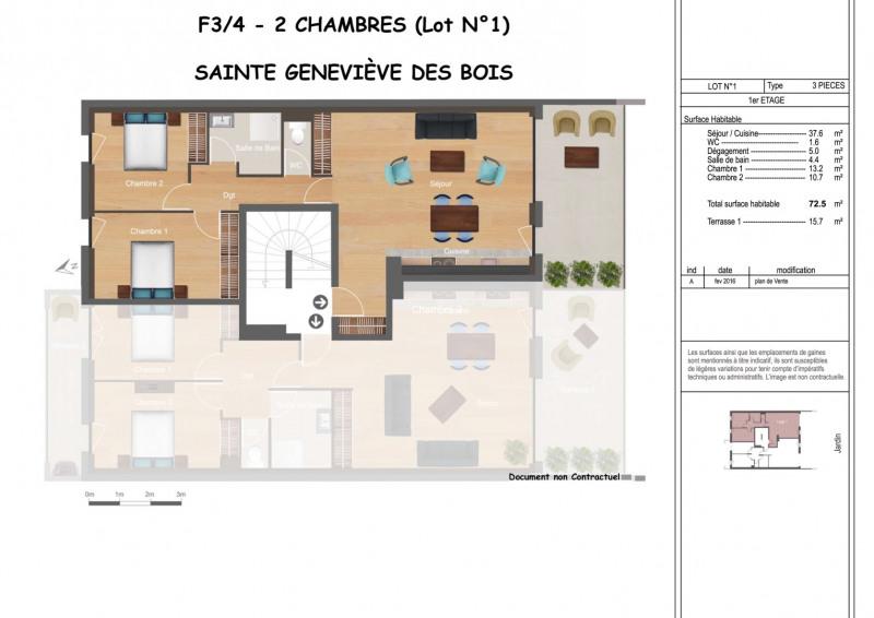 Vente appartement Sainte-geneviève-des-bois 289000€ - Photo 1