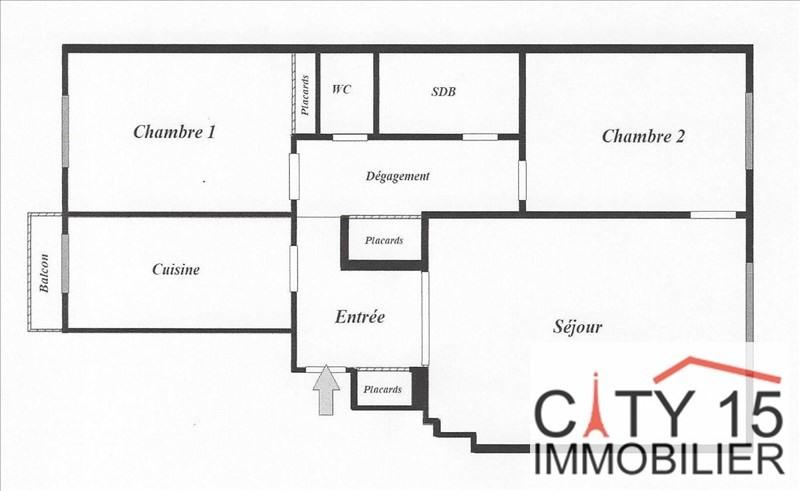 Vendita appartamento Paris 15ème 585000€ - Fotografia 2