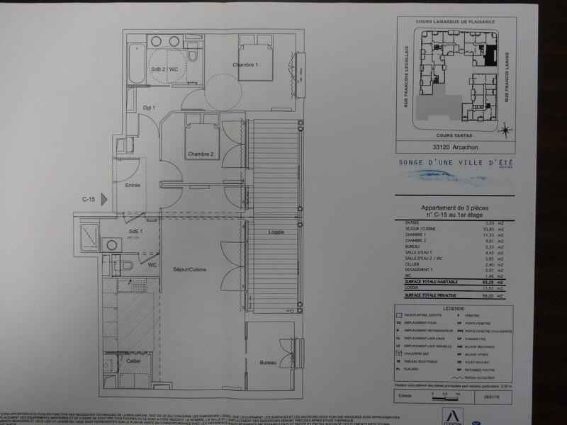 Sale apartment Arcachon 436000€ - Picture 2