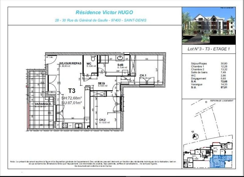 Deluxe sale apartment St denis 330000€ - Picture 2