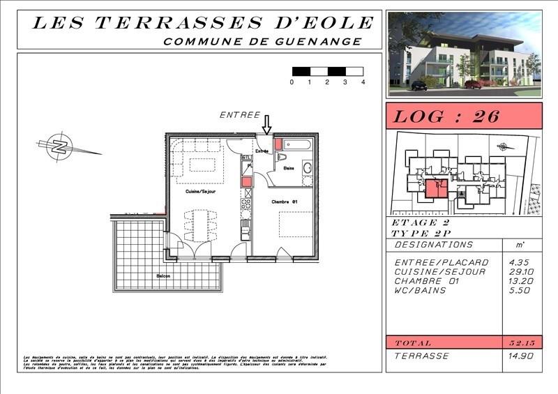 Vente appartement Guenange 130387€ - Photo 4