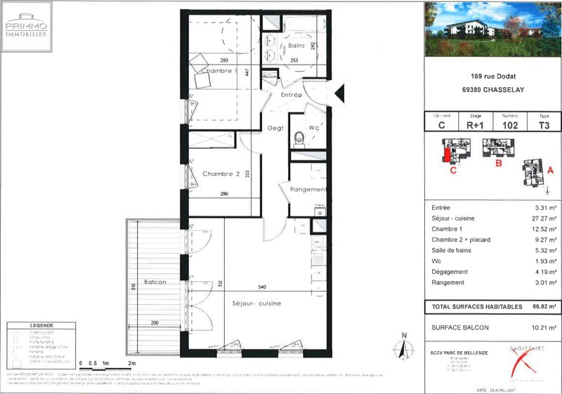 Vente appartement Chasselay 240000€ - Photo 3