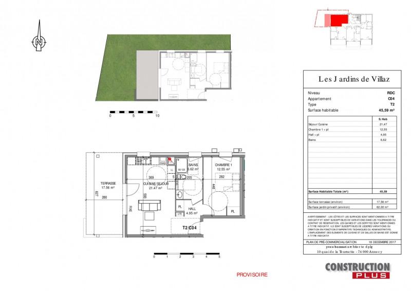Sale apartment Villaz 195000€ - Picture 5