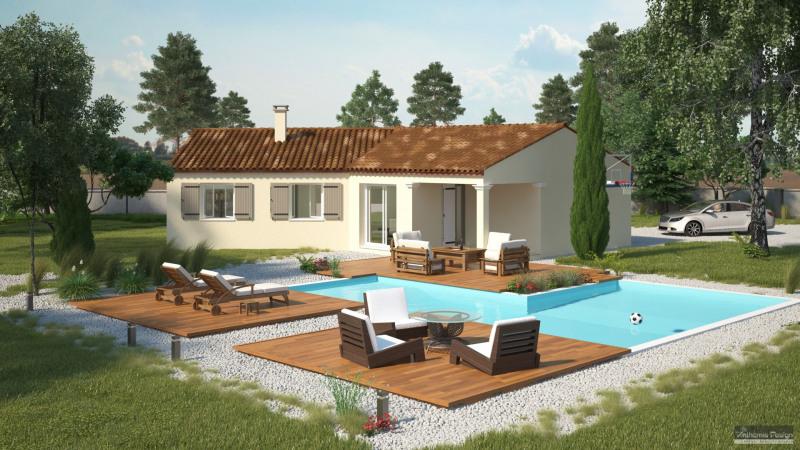 """Modèle de maison  """"Modèle de maison en V 4 pièces + garage"""" à partir de 4 pièces Aude par MARCOU HABITAT"""