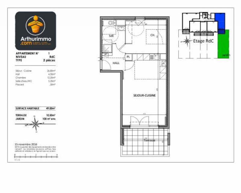 Vente appartement Antibes 290000€ - Photo 2