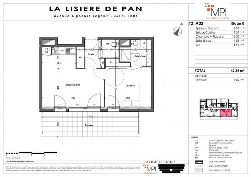 Sale apartment Bruz 133000€ - Picture 9