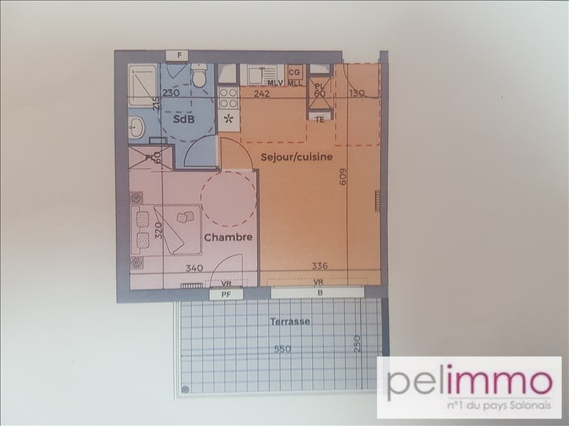 Sale apartment Eyguieres 153 600€ - Picture 2
