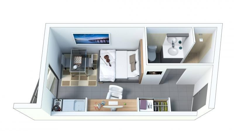 Vente appartement St denis 88000€ - Photo 2