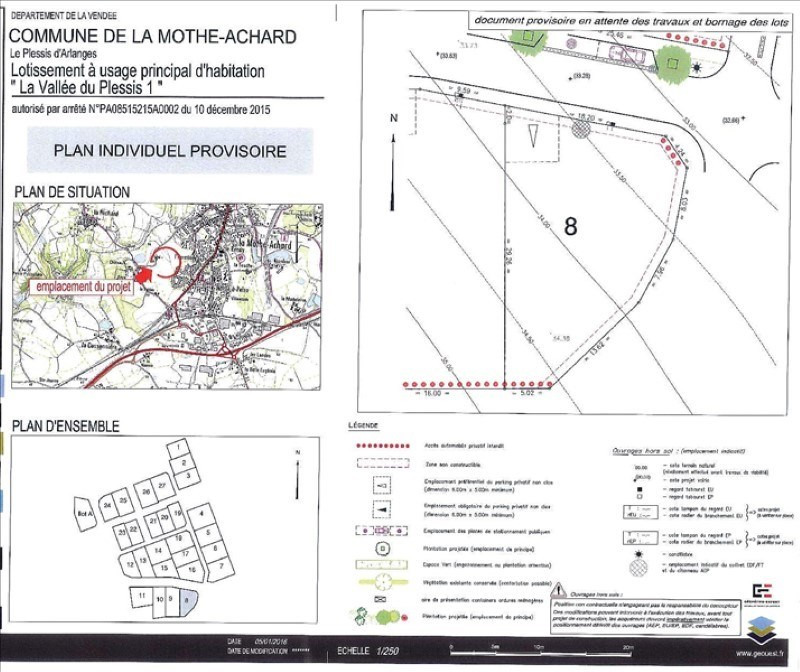 Vente terrain La mothe achard 51 500€ - Photo 1