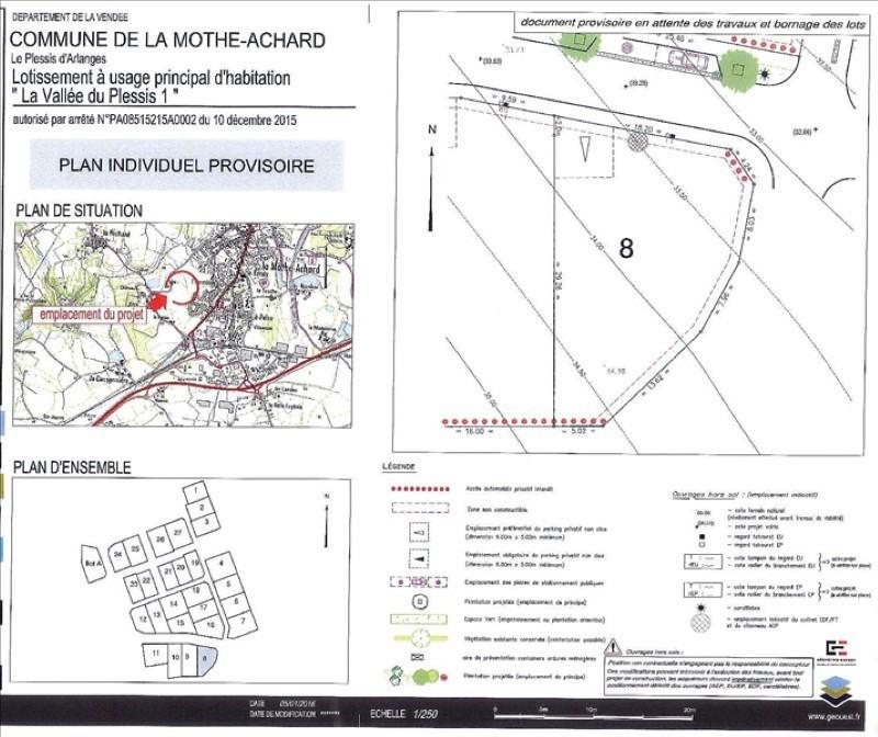 Vente terrain La mothe achard 51500€ - Photo 1