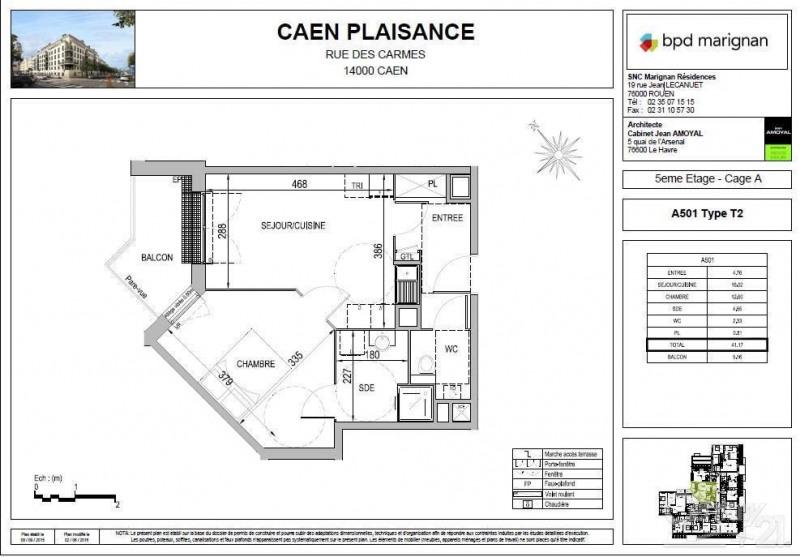 Affitto appartamento Caen 530€ CC - Fotografia 7