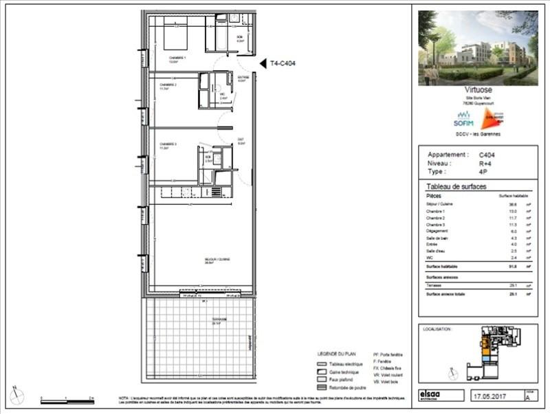 Verkoop  appartement Guyancourt 457300€ - Foto 1