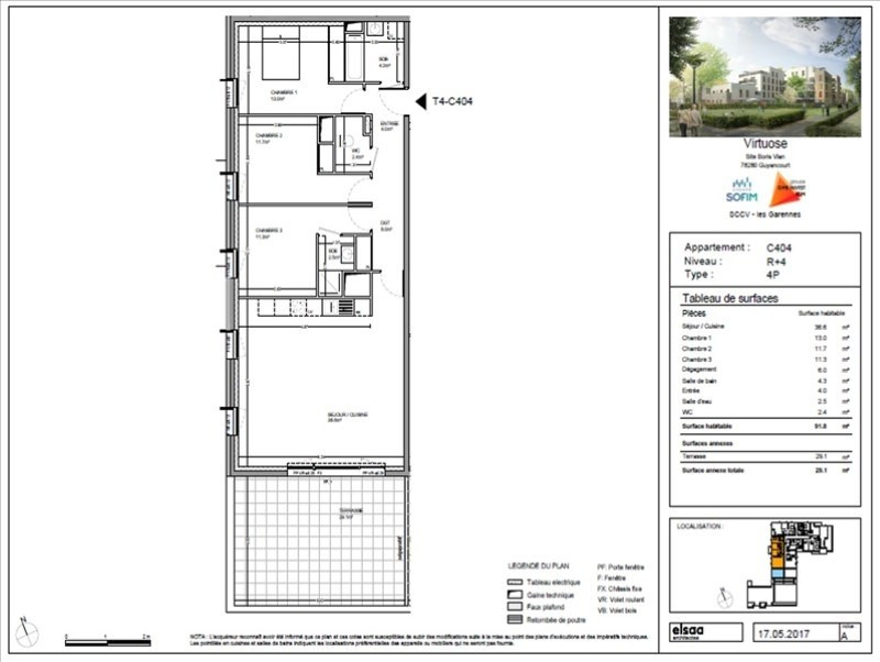 Sale apartment Guyancourt 457300€ - Picture 1