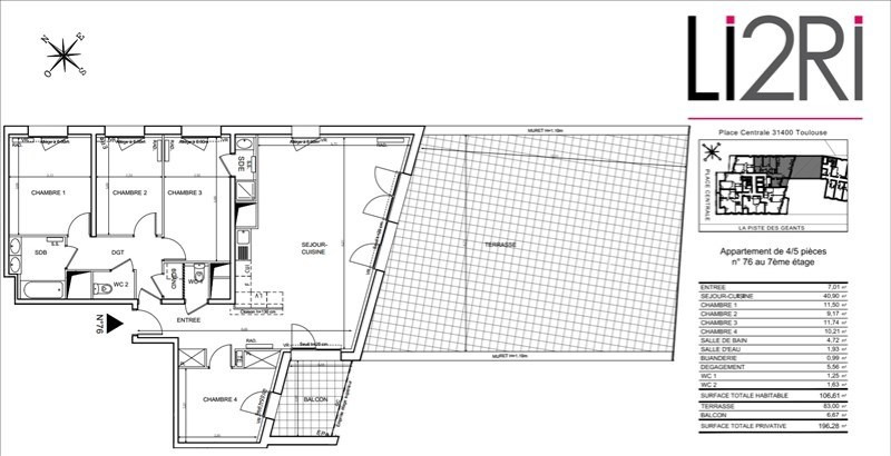 Vente appartement Toulouse 356000€ - Photo 7