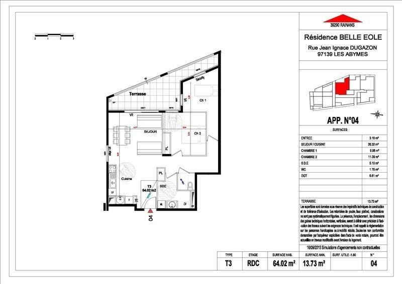 Sale apartment Les abymes 156500€ - Picture 7