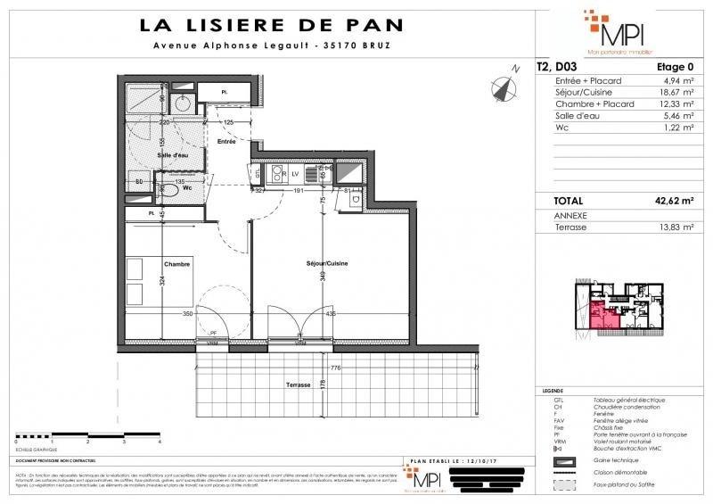 Sale apartment Bruz 133000€ - Picture 8