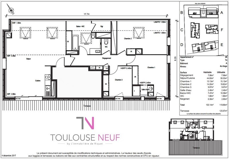 Vente appartement Toulouse 389900€ - Photo 7