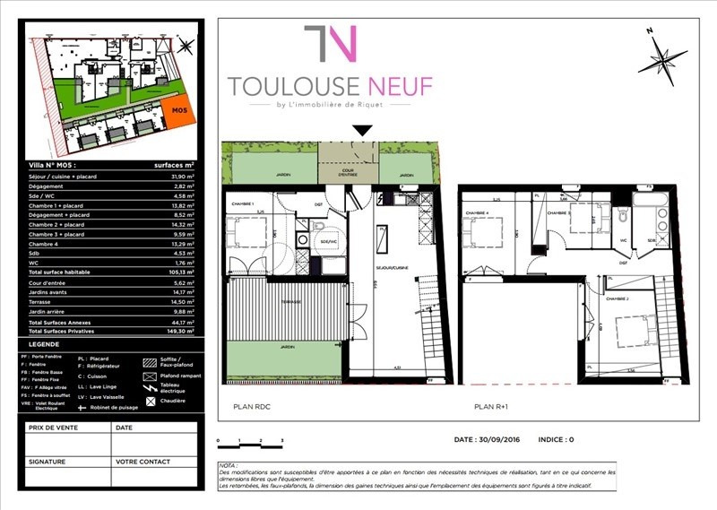 Vente maison / villa Toulouse 432000€ - Photo 4