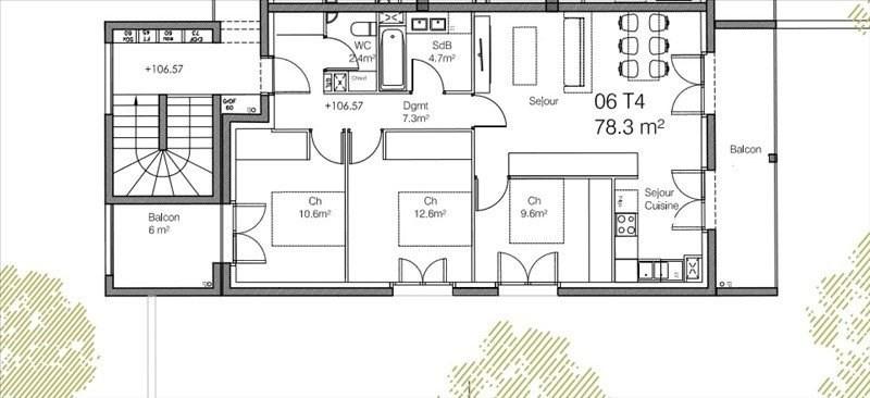 Revenda residencial de prestígio apartamento Caluire et cuire 455000€ - Fotografia 2