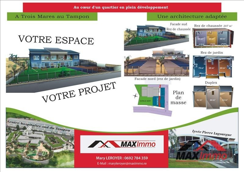 Vente terrain Le tampon 320000€ - Photo 1