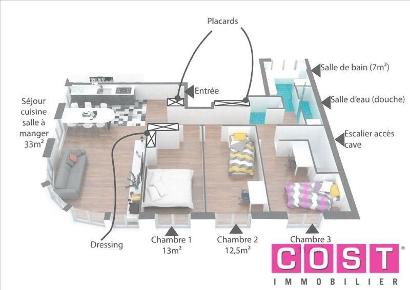 Venta  apartamento Bois colombes 428000€ - Fotografía 4