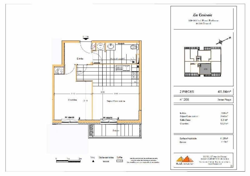Rental apartment Draveil 778€ CC - Picture 3