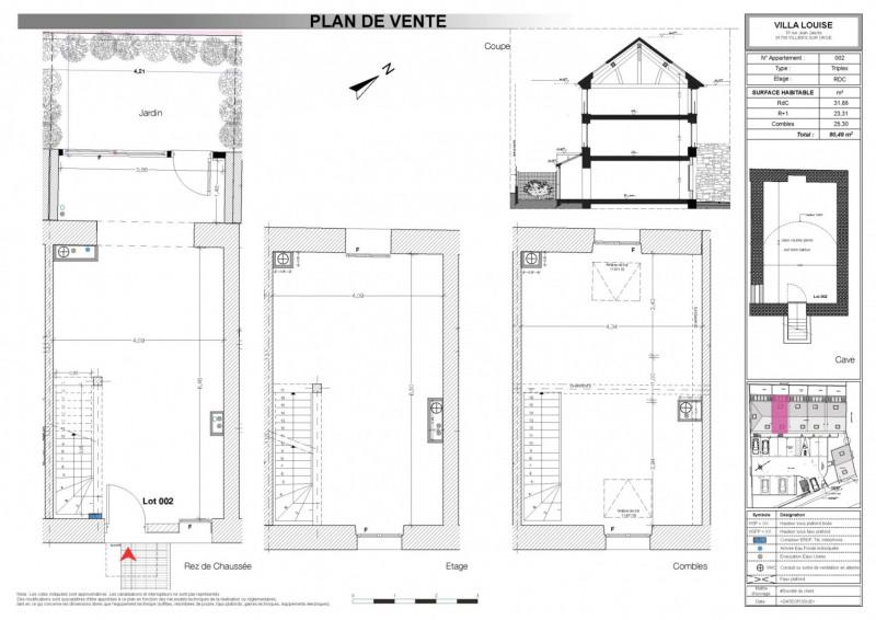 Venta  casa Villiers sur orge 204360€ - Fotografía 2
