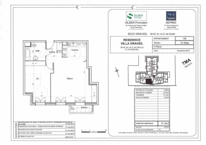 Rental apartment Draveil 857€ CC - Picture 2