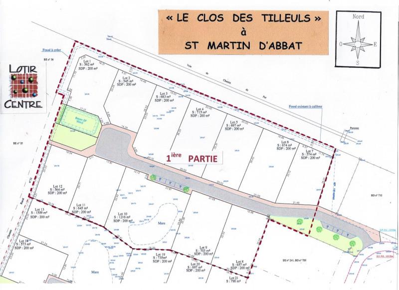 Terrain  de 1216 m² Saint-Martin-d'Abbat par LOTIR CENTRE