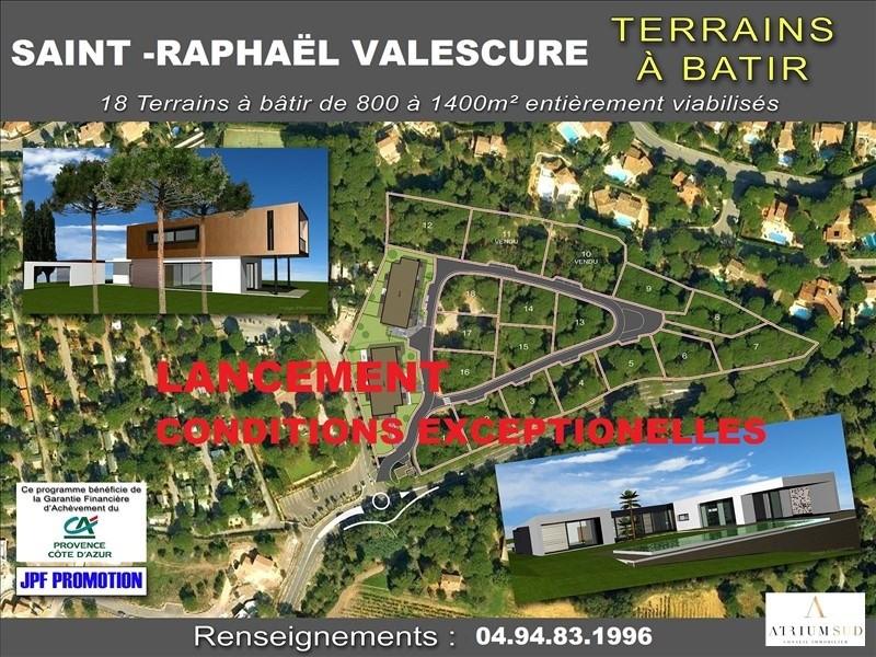Vente terrain St raphael 358000€ - Photo 1